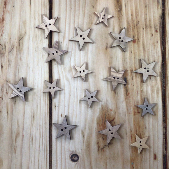 Wooden Star Button