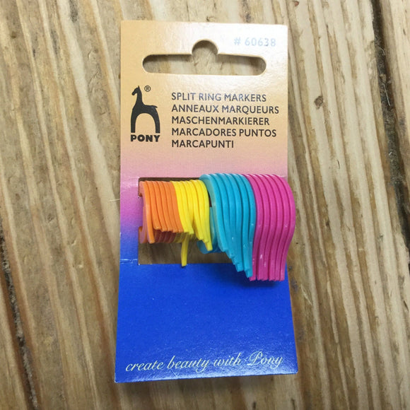 Knitting Markers - Pony Split Ring Markers