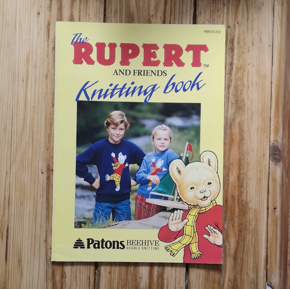 Knitting - Patons Rupert And Friends Knitting Pattern Booklet 312