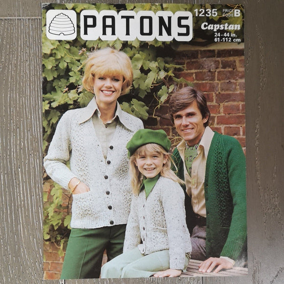 Knitting Pattern: Double Knitting - Patons Capstan 1235