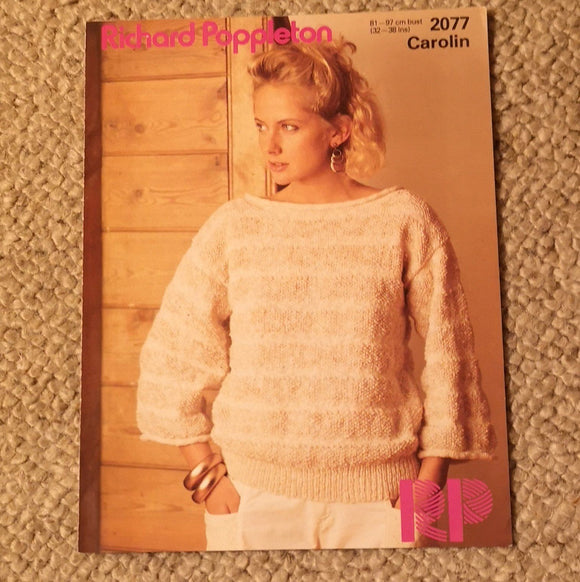 Knitting Pattern: Double Knitting - Richard Poppleton Carolin DK 2077