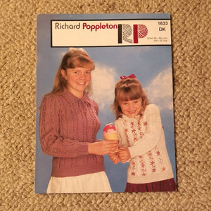 Knitting Pattern: Double Knitting - Richard Poppleton DK 1833