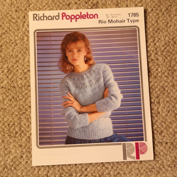 Knitting Pattern: Double Knitting - Richard Poppleton Rio Mohair 1785