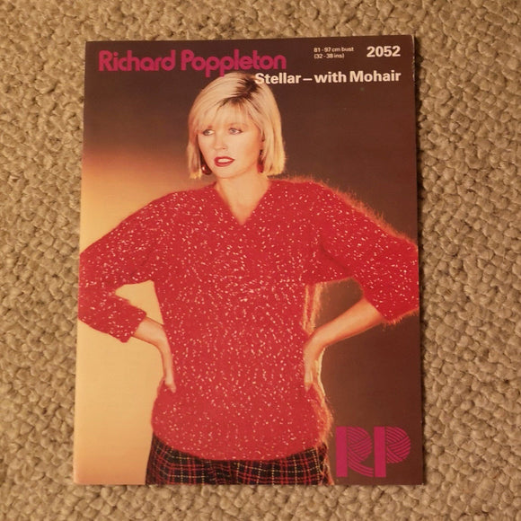 Knitting Pattern: Double Knitting - Richard Poppleton Stellar-with Mohair  2052