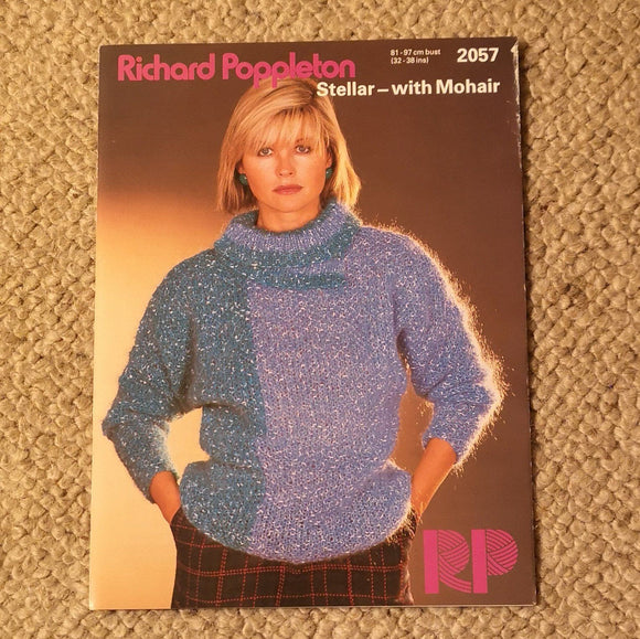 Knitting Pattern: Double Knitting - Richard Poppleton Stellar-with Mohair  2057