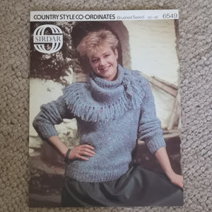 Knitting Pattern: Double Knitting - Sirdar Country Style Co-ordinates Brushed Tweed 6549