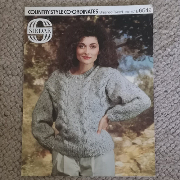 Knitting Pattern: Double Knitting - Sirdar Country Style Co-ordinates Brushed Tweed B6542