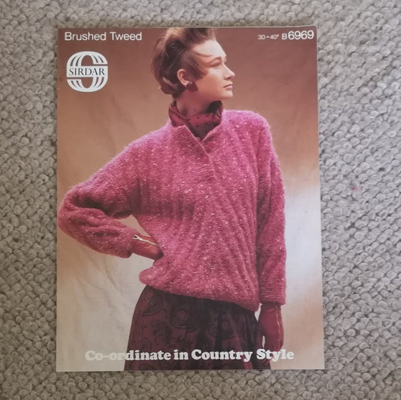 Knitting Pattern: Double Knitting - Sirdar Country Style Co-ordinates Brushed Tweed B6969