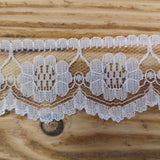lace flower with scallop edge lace