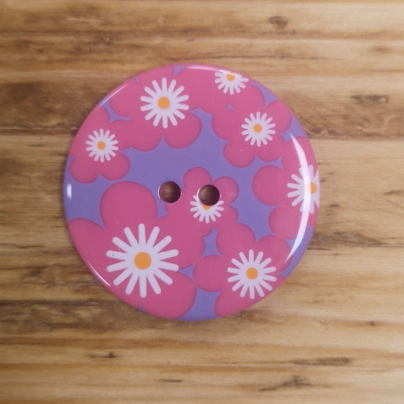 Multi Daisy Print Button