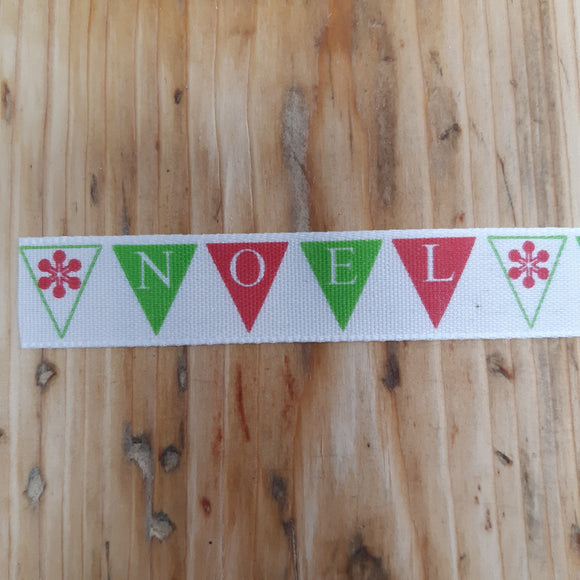Ribbon - Christmas Noel Bunting Ribbon