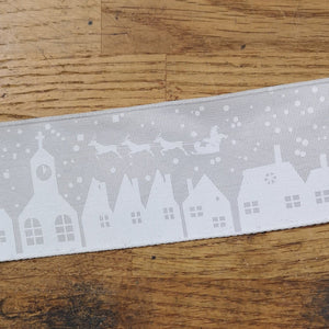 Ribbon - Houses And Sleigh Christmas Ribbon