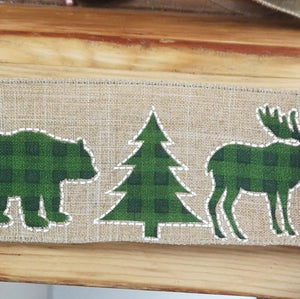 Ribbon - Moose And Christmas Tree Ribbon