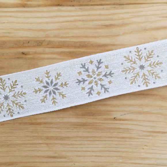 Ribbon - Snowflake Wired Ribbon