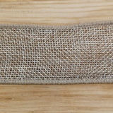Ribbon - Wired Edge Country Hessian Ribbon
