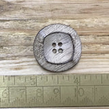 Wooden Button - Wooden Square Design Button