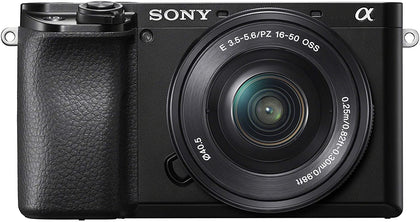 Sony Alpha A6100 Mirrorless Camera with 16-50mm Lens, Black (ILCE6100L/B)