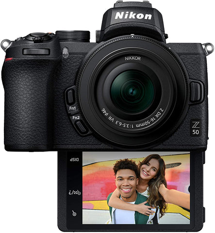 Nikon - Z50 Mirrorless Camera 4K Video with NIKKOR Z DX 16-50mm f/3.5-6.3 VR Lens - Black
