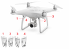 DJI Phantom 4 Pro - Landing Gear Antenna Cover white