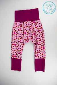 Pantalons évolutifs - Pois roses / Grow with me pants - Pink dots