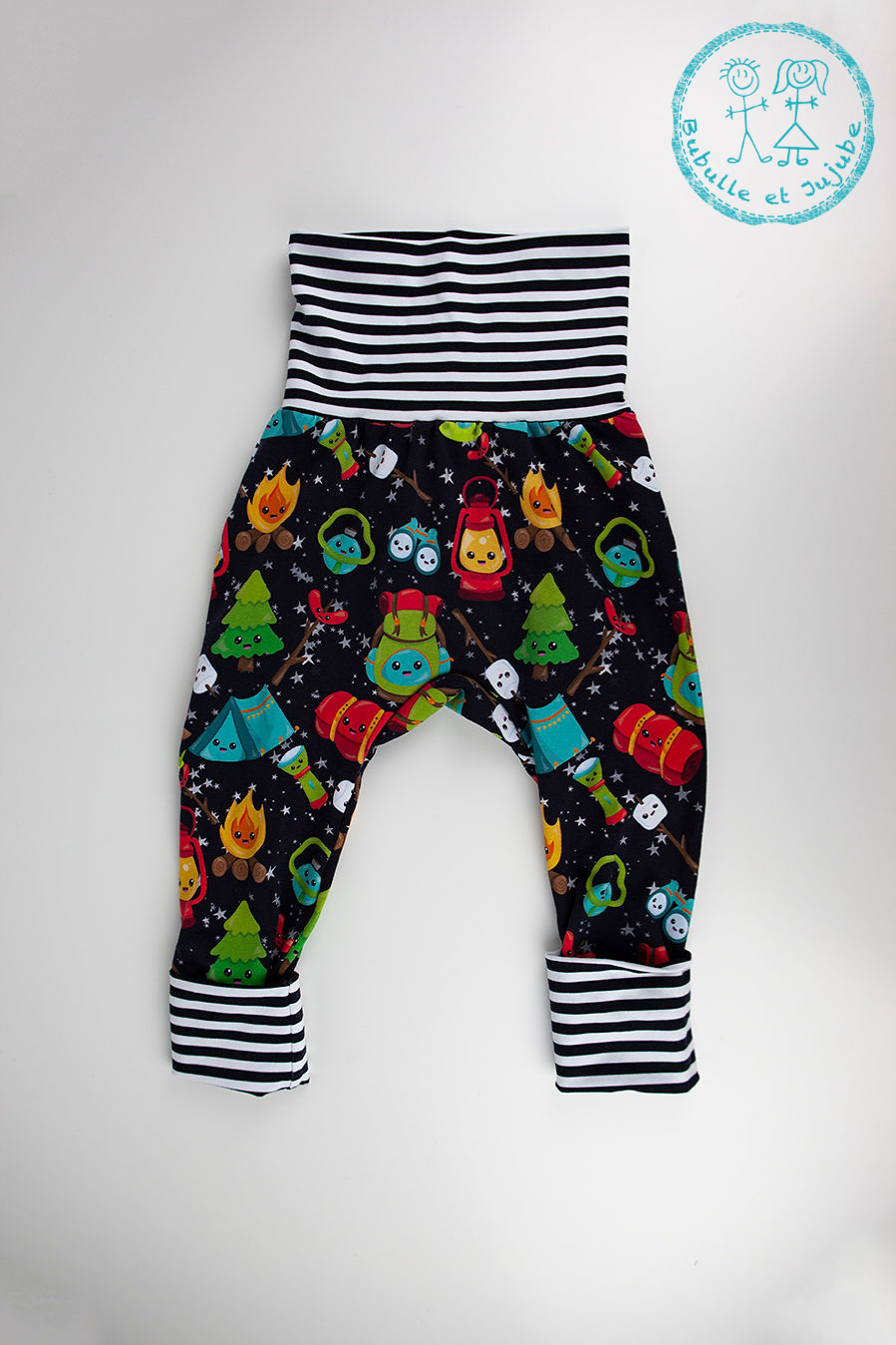 Pantalons évolutifs - Camping / Grow with me pants - Camping
