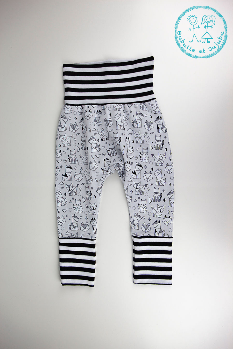 Pantalons évolutifs - Animaux origami / Grow with me pants - Origami animals