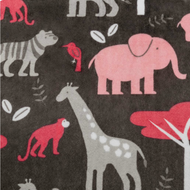 Tablier de bain - Animaux de la jungle roses - Bath Apron - Jungle animals pink