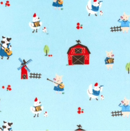 Tablier de bain - Animaux de la ferme bleu - Bath Apron - Blue farm animals