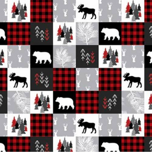 Tablier de bain - Ours, Orignaux et carreauté - Bath Apron - Bear, Moose and plaid