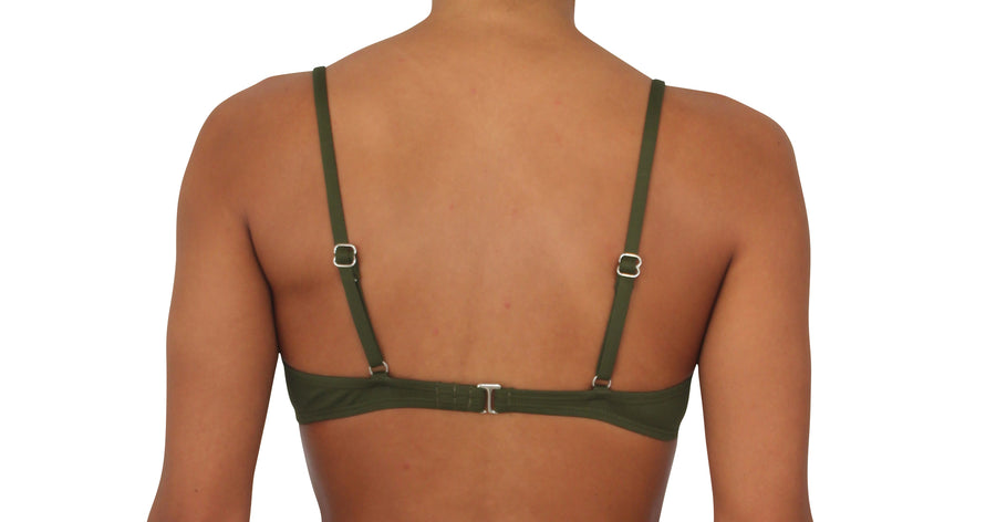 Bra Top Olive Solid