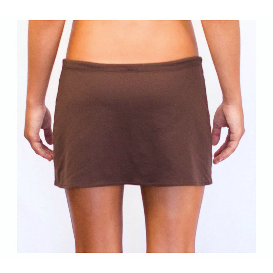 Drawstring Skirt Chocolate