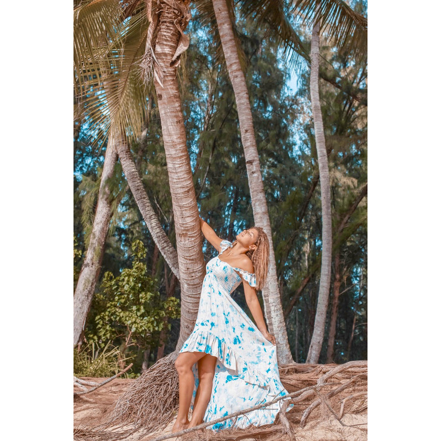 Kawella Bay Blue Sky Tie Dye  Dress