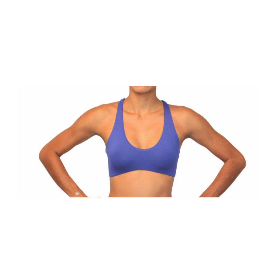 Reversible Yogini Fitness Surf Top Purple Solid