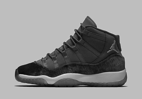 Nike Air Jordan Retro 11 RL Girls GG GS Heiress Holiday 2017 Dark Grey Chrome 3.5-9.5y PRE ORDER