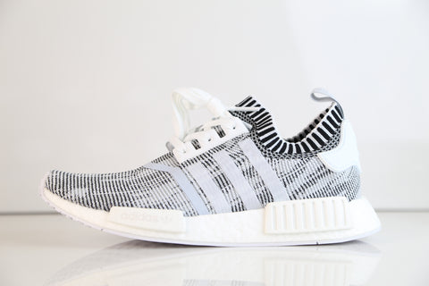 Adidas NMD R1 PK Oreo White Black Glitch Camo BY1911 (NO Codes)