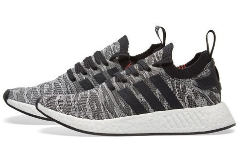 Adidas NMD R2 PK Tiger Camo Black White Glitch BY9409 (NO Codes)