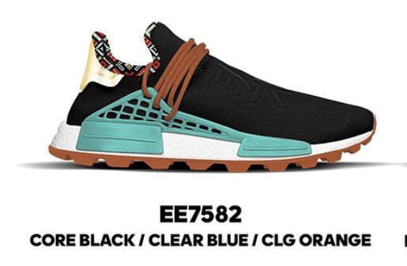 6eee8dbf4e48d Adidas Pharrell Williams PW NMD Inspiration Pack Core Black Clear Blue CLG  Orange EE7582