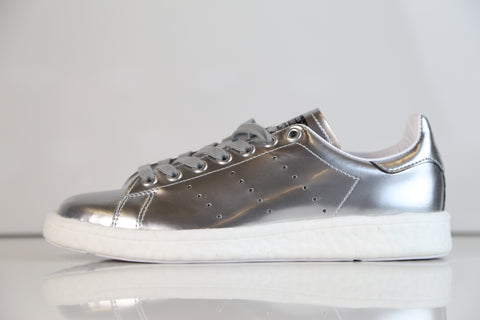 591c9c658f1 Adidas Womens Stan Smith Boost W Metallic Silver BB0108