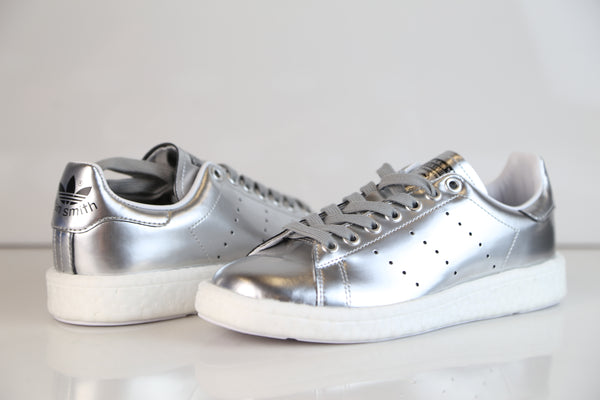 49c84d67221 ... Adidas Womens Stan Smith Boost W Metallic Silver BB0108 ...