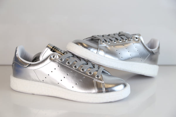 32747740fa6 ... Adidas Womens Stan Smith Boost W Metallic Silver BB0108