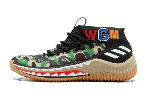 best website 1e959 46a53 Adidas A Bathing Ape Dame 4 Bape Green Camo AP9974 (NO Codes)