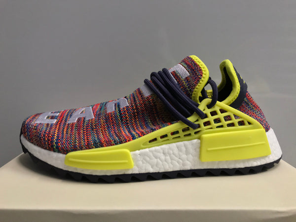 outlet store b99f8 24a68 ... Adidas X PW Pharrell Williams NMD Human Race Multicolor Noble Ink Yellow  AC7360 (NO Codes ...