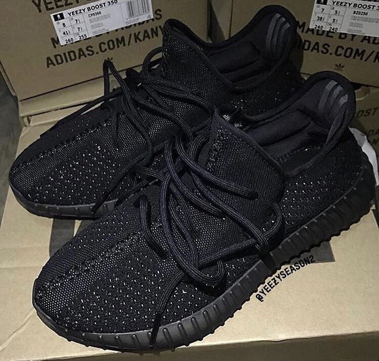 9a62ba0bb13 Adidas Yeezy By Kanye West 350 Blade Triple Black Black PRE ORDER ...