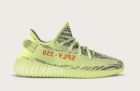 Adidas Yeezy by Kanye West Boost 350 V2 Yebra Semi Frozen Yellow Raw Steel Red B37572Holiday 2017 PRE ORDER