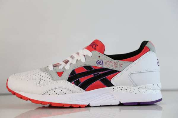 Asics Gel-Lyte V White Poppy Red Black H613Y 2590