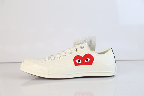 Converse CDG Comme Des Garcons Play Chuck Taylor 70 Low Milk White 150207C