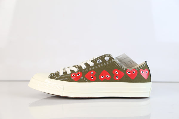 Converse CDG Comme Des Garcons Play Chuck Taylor 70 Low Multi Fir Green 162976C