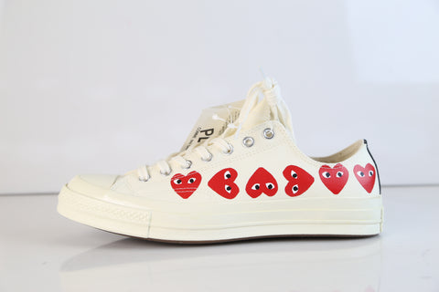 Converse CDG Comme Des Garcons Play Chuck Taylor 70 Low Multi White 162975C