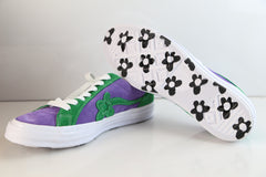 Converse Gold Le Fleur One Star Ox Purple Heart Jolly Green 162128C