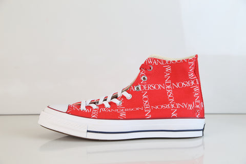 Converse JW Anderson AS 70s Chuck Taylor Hi Grid Flame Scarlet Red 162290C